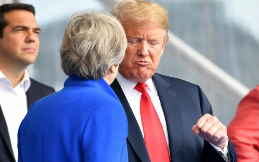 Trump meet with May