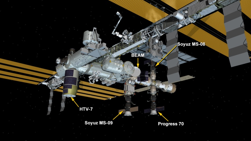 ISS with Russian Space Capsules Identified